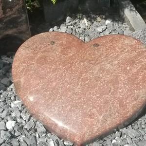 ROMANTICA, Schrifttafel in Herzform